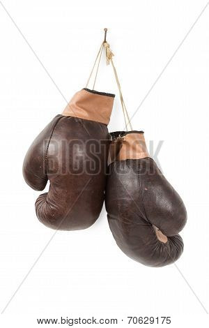 Vintage old boxing gloves
