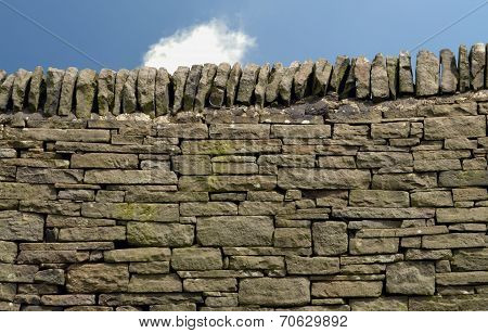 Dry stone wall in the Peak District National Park