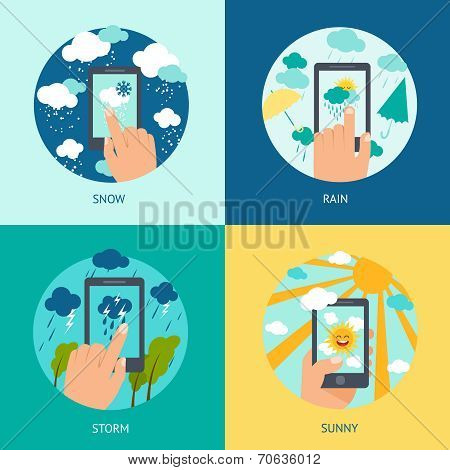 Weather smart phone set
