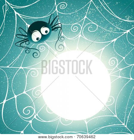 Glowing spooky spider web