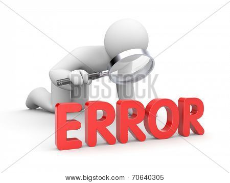 3d man analyzes his error