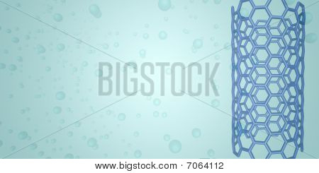 Blue Nanotube On Light Blue Background