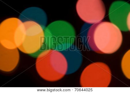 Bokeh Of Colorful Party Lights
