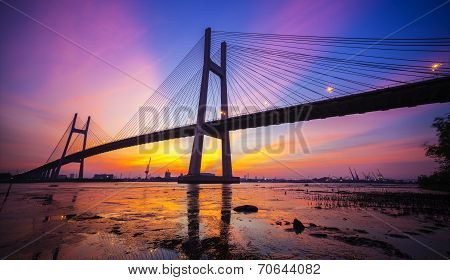 Sunset on Phu My bridge