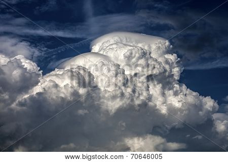 Cumulonimbus cloud in the blue sky