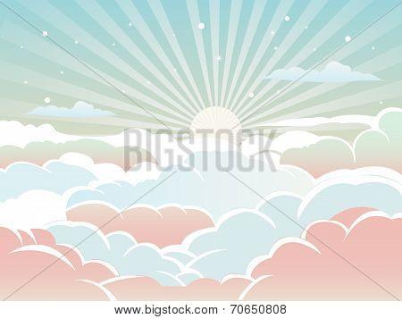 Sunlight on The Sky Background