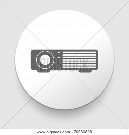 Simple web icon in vector - projector