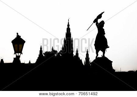 Vienna Cityscape Silhouette