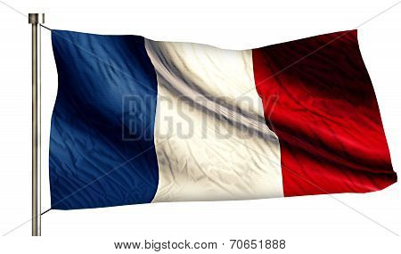 France National Flag Isolated 3D White Background
