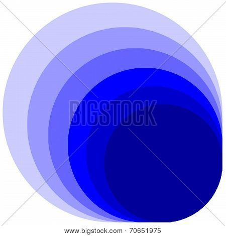 multilayer of blue circle