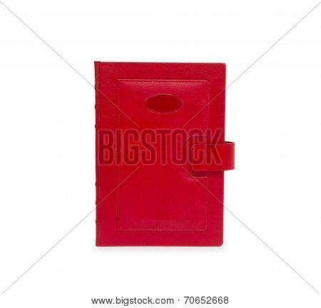Book Red On White Background
