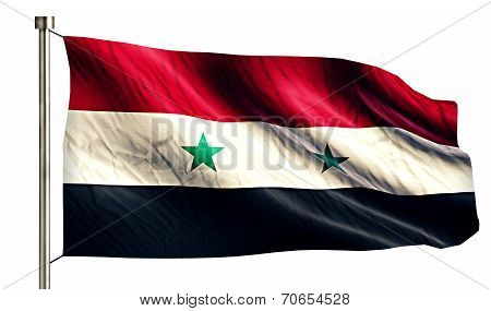 Syria National Flag Isolated 3D White Background