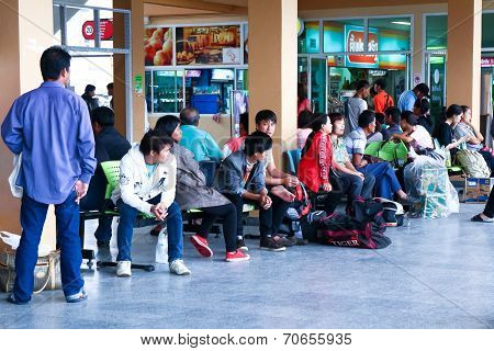 People waiting for bus