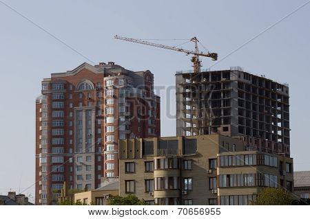 Construction Of New Homes Near The Pushkin Boulevard In Donetsk