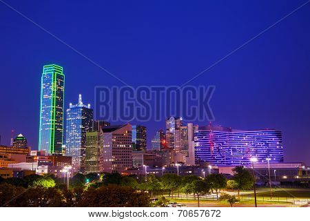 Dallas Cityscape At The Night Time
