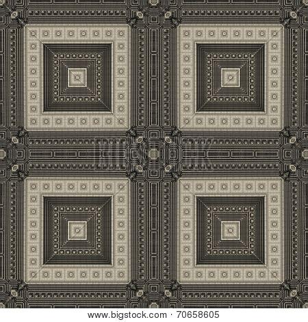 Seamless Rectangle Pattern In Ocher