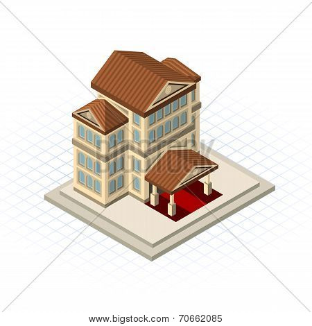 Isometric Bank Building