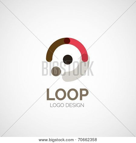 abstract company logo design, business symbol concept, modern line design