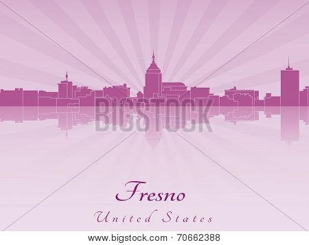 Fresno Skyline In Purple Radiant Orchid
