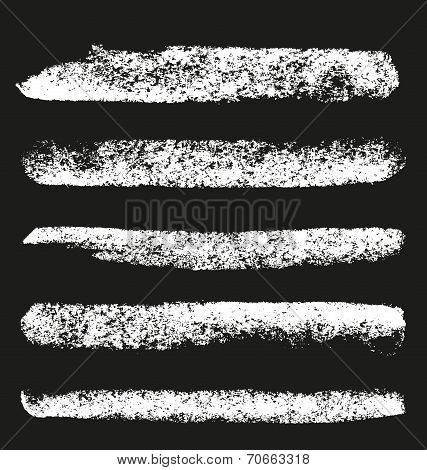 Set of grunge chalk brushes.