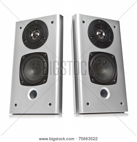 Two audio speakers