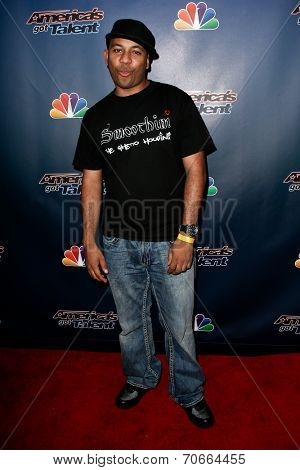 NEW YORK-AUG 13: Magician Tomas 'Smoothini' de la Cruz attends the post-show red carpet for NBC's 'America's Got Talent' Season 9 at Radio City Music Hall on August 13, 2014 in New York City.
