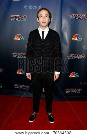 NEW YORK-AUG 20: Comedian Taylor Williamson attends the backstage post-show red carpet for NBC's 'America's Got Talent' Season 9 at Radio City Music Hall on August 20, 2014 in New York City.