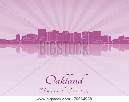 Oakland Skyline In Purple Radiant Orchid