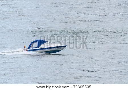 Sport Boat On Plane