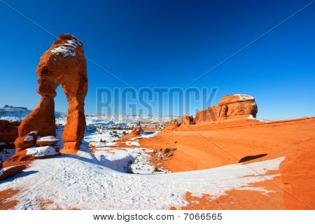 Delicate Arch In Winter