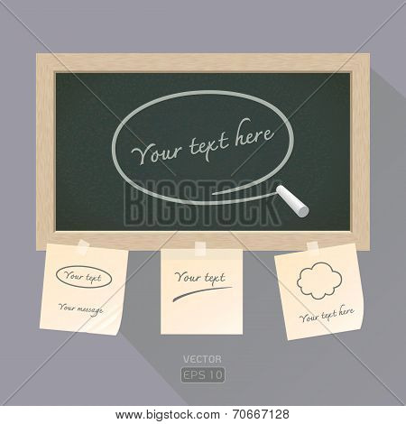 Blackboard With Paper Note