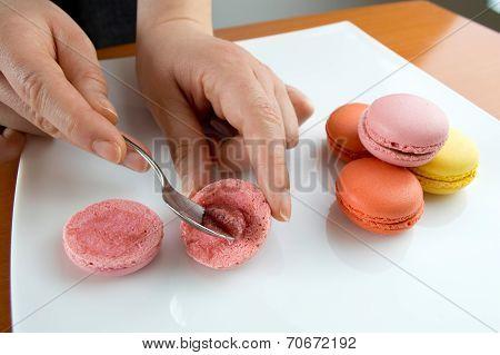 Preparing Macarons