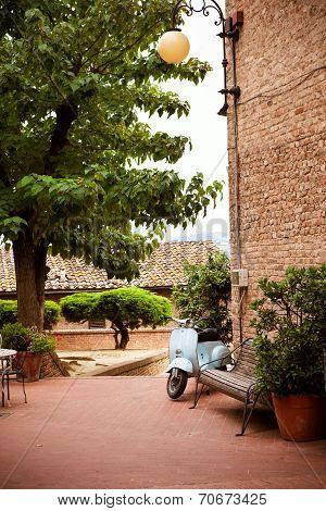 Courtyard In The Old Italian Town Of Certaldo