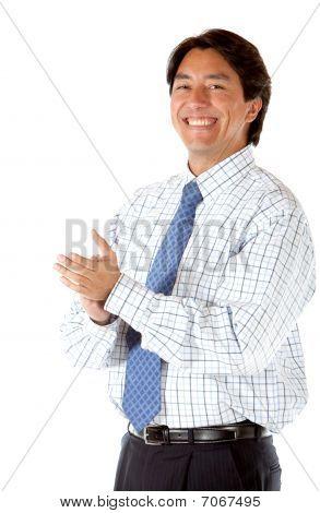 Business Man Applauding