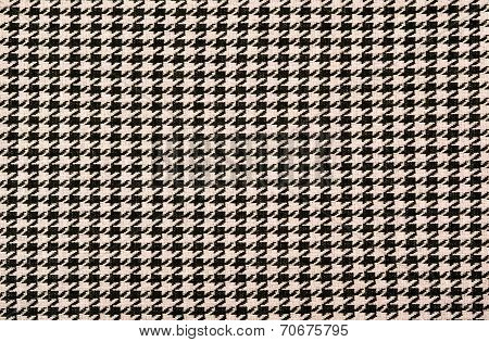 Black and pink houndstooth pattern.