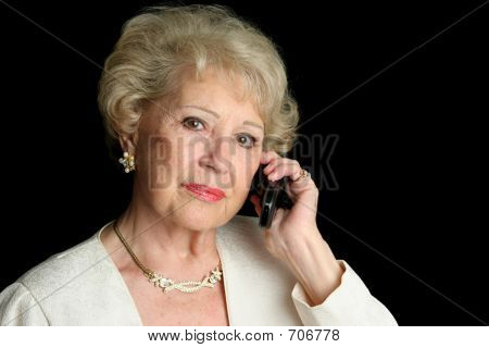 Senior On Serious Phone Call