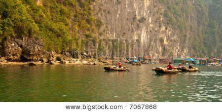 Traders At Halong Bay