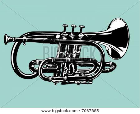 cornet horn