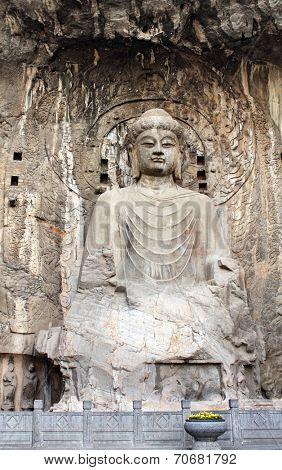 Longmen Grottoes with Buddha's statue, Luoyang, China