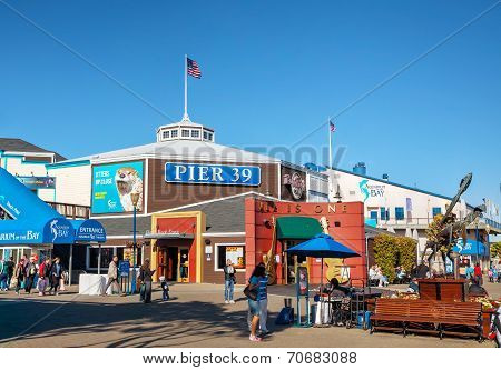 Famous Pier 39 At Port Of San Francisco