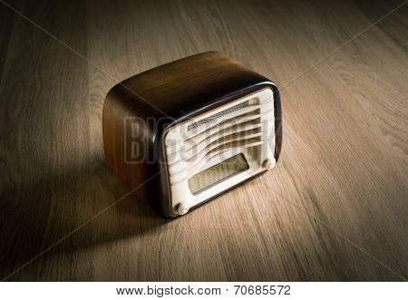 Vintage Radio On A Desk