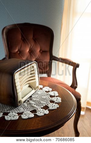 Vintage Radio In The Living Room