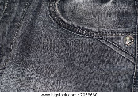 Jeans Texture With Pocket
