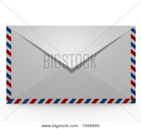 Front view of an envelope
