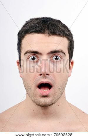 Surprised Man Expression