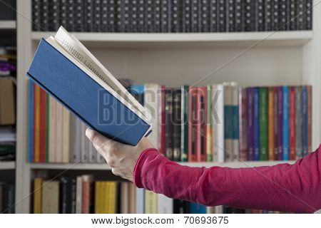 Book On Library Background