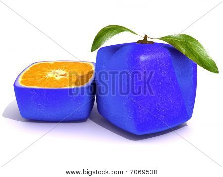 Sliced Blue Citric Fruit