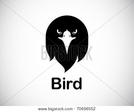 funny bird abstract icon - vector