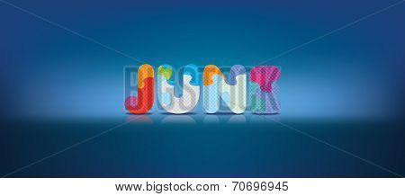 JUNE written with alphabet puzzle - vector illustration