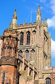 image of hereford  - Front view of the Cathedral Hereford Herefordshire England UK Western Europe - JPG